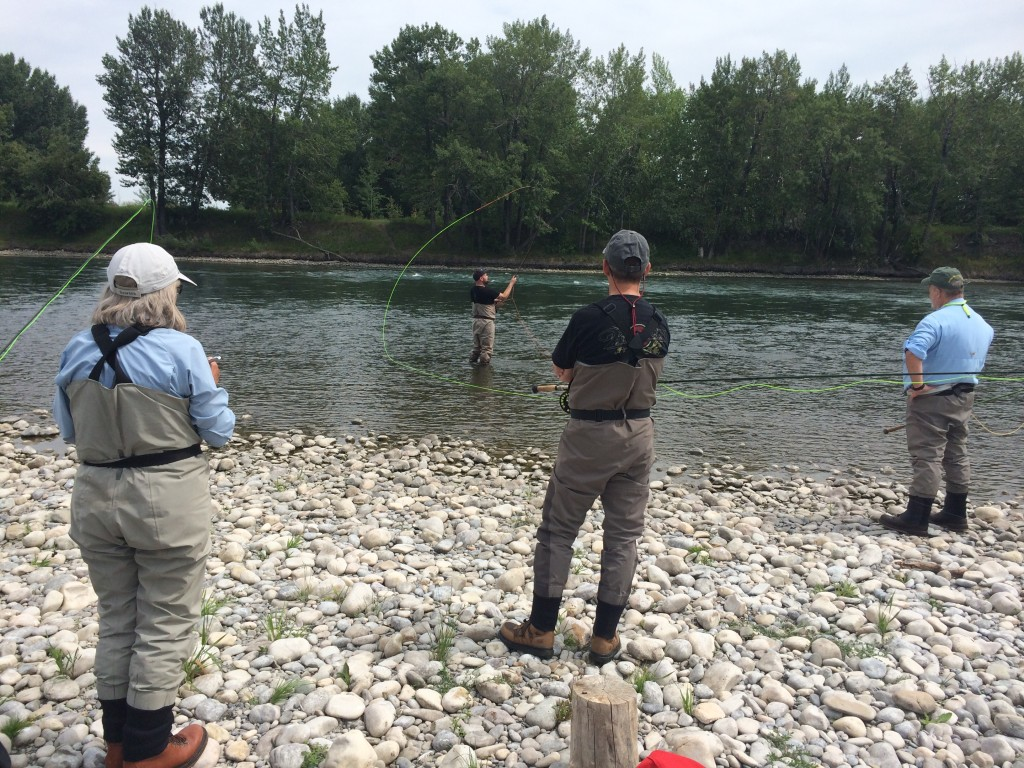 Tim doing spey casting demo