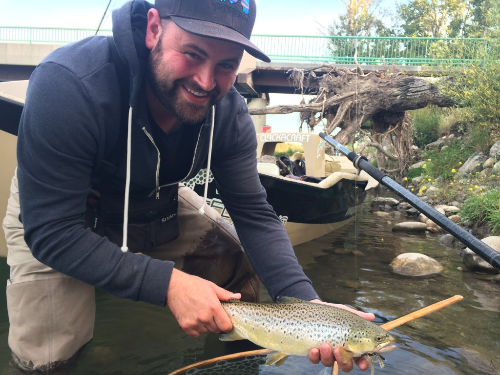 Tim's first bow river brown